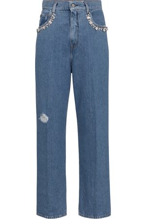 Golden Goose Verzierte High-Rise Straight Jeans Kim