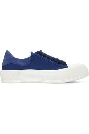 Alexander McQueen 45mm Hohe Sneakers Aus Wildleder & Baumwollcanvas