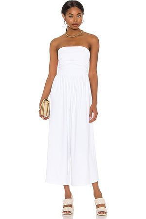 Susana Monaco Strapless Ruched Jumpsuit in - White. Size S (also in XS).