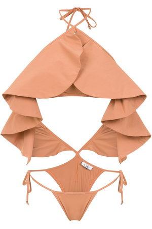 AMIR SLAMA Damen Badeanzüge - Ruffled swimsuit