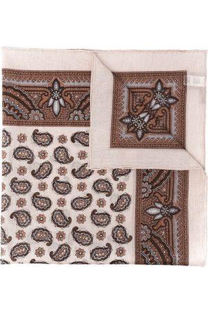 ELEVENTY Herren Schals - Paisley-print cotton scarf