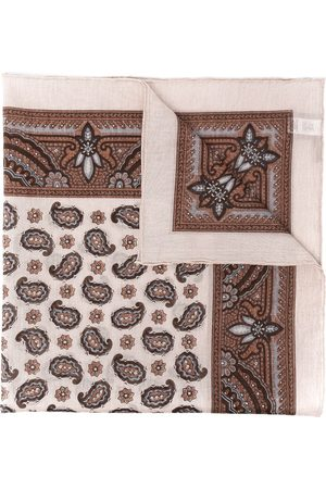 ELEVENTY Paisley-print cotton scarf