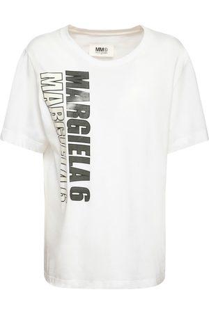MM6 MAISON MARGIELA Bedrucktes T-shirt Aus Baumwolljersey