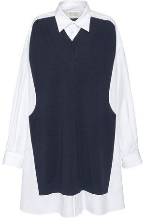 Maison Margiela Langes Hemdkleid Aus Baumwolle