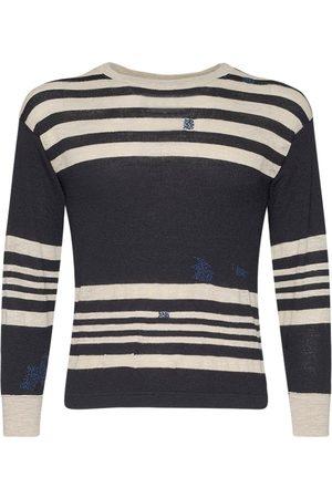 Maison Margiela Sweater Aus Baumwollstrick Mit Streifen
