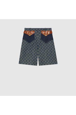 Gucci Damen Shorts - Shorts aus Bio-Denim mit ökologischer Waschung