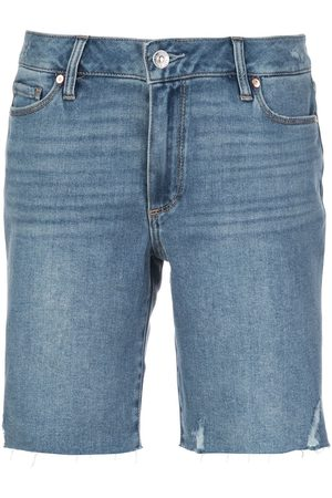 PAIGE Jax mid-rise distressed shorts