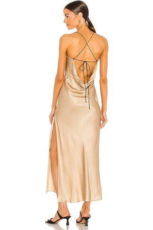 Weekend Stories Damen Midikleider - Gabrielle Midi Dress in - Metallic Gold. Size L (also in M, S, XL, XS, XXS).