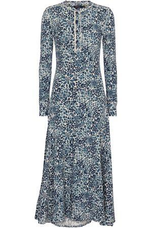 Polo Ralph Lauren Bedrucktes Midikleid aus Baumwolle