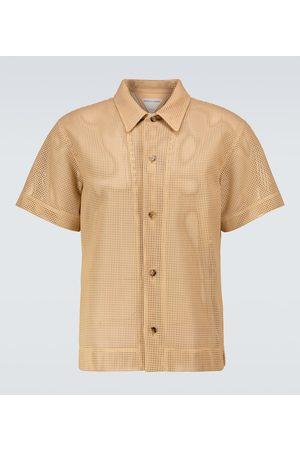 Bottega Veneta Herren Freizeit - Kurzarmhemd aus Leder