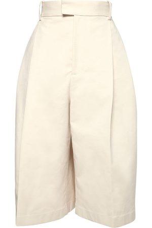BOTTEGA VENETA Damen Shorts - Lange Shorts Aus Baumwolle