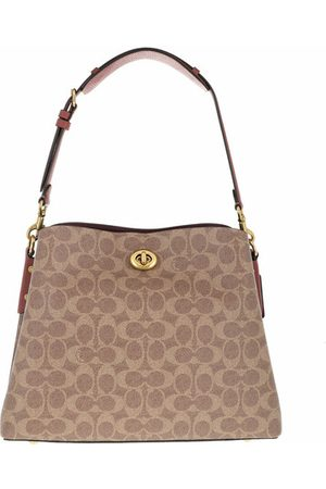 Coach Crossbody Bags Coated Canvas Signature Willow Shoulder Bag - in cognac - Umhängetasche für Damen