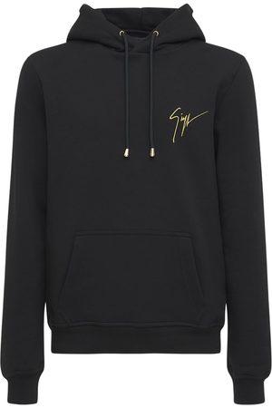 """Giuseppe Zanotti Herren Sweatshirts - Hoodie Aus Baumwolljersey """"signature Embro"""""""