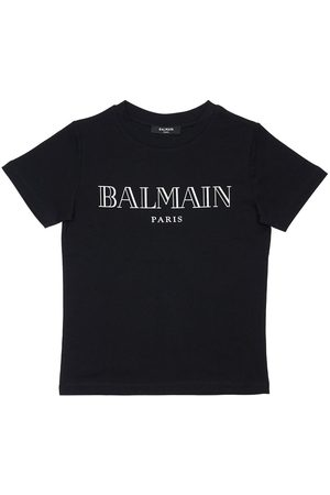 BALMAIN T-shirt Aus Baumwolljersey Mit Logodruck
