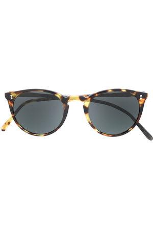 Oliver Peoples Herren Sonnenbrillen - Tortoiseshell round frame sunglasses