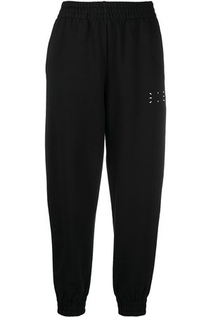 MCQ Graphic-print cotton track trousers