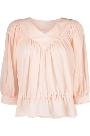 See by Chloé Peplum hem gathered blouse