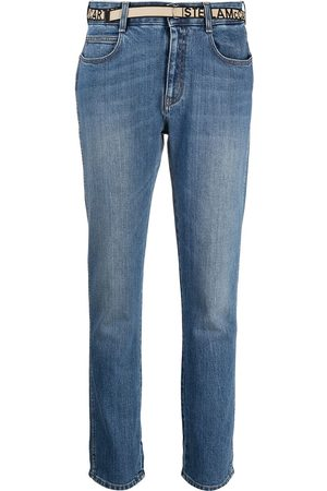 Stella McCartney Damen Slim - Logo-tape slim-fit jeans