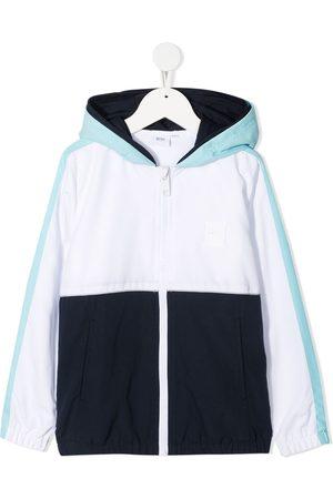 BOSS Kidswear Colour-block hooded jacket