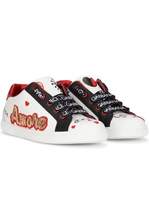 Dolce & Gabbana Kids Logo-print lace-up sneakers
