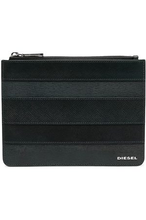 Diesel Calf leather stripe wallet