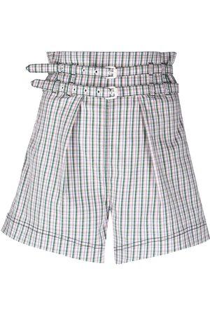 Philosophy Di Lorenzo Serafini Damen Shorts - Check-print high-waisted shorts