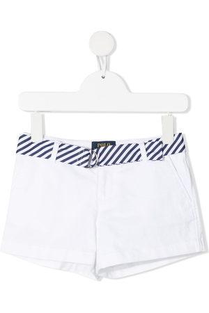 Ralph Lauren Kids Belted cotton-blend shorts