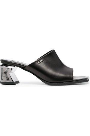 Karl Lagerfeld Damen Clogs & Pantoletten - K-Blok shaped heel mules
