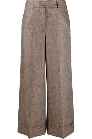 Peserico Damen Weite Hosen - Wide-leg cropped trousers