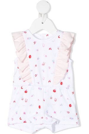 The Marc Jacobs Kids Anzüge - Letter-print sleeveless shorties