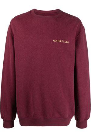 Maharishi Logo-print round neck sweatshirt
