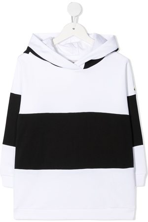 Moncler Enfant Striped logo-print hoodie