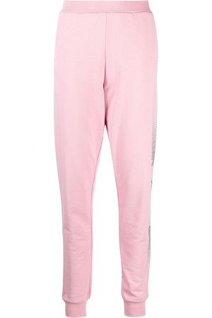 Karl Lagerfeld Rhinestone-logo track trousers