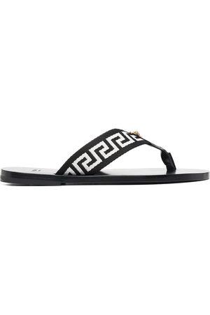 Versace Herren Flip Flops - Greca-motif thong-strap flip-flops