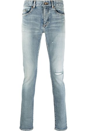 Saint Laurent Distressed-detail skinny-fit jeans