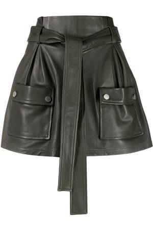 RED Valentino Damen Culotten - Tie-waist flap-pocket skort