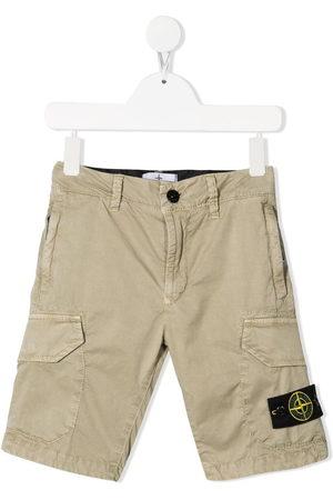 Stone Island Junior Logo-patch bermuda shorts