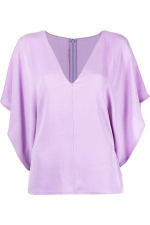 Valentino Damen Blusen - Georgette V-neck blouse