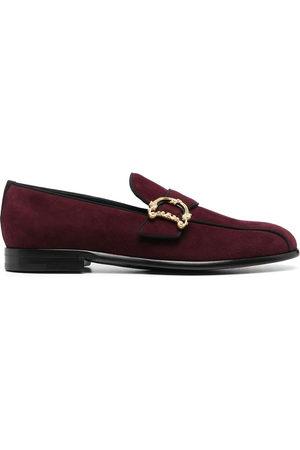 Dolce & Gabbana Baroque logo-plaque loafers