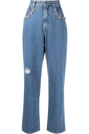 Golden Goose Embellished-detail straight-leg jeans