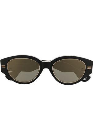 A BATHING APE® Camouflage-print round-frame sunglasses