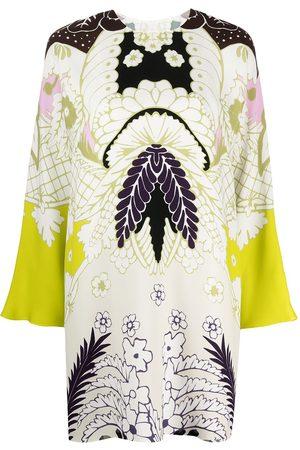 VALENTINO Damen Freizeitkleider - Abstract-print long-sleeve dress