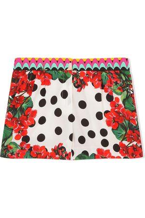 Dolce & Gabbana Kids Mädchen Shorts - Mixed floral-print shorts