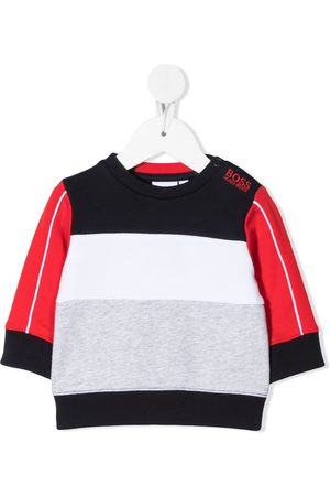 BOSS Kidswear Colour-block round neck sweatshirt