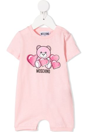 Moschino Kids Teddy bear-print cotton shorties