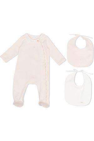 Chloé Scallop-edge cotton pajamas