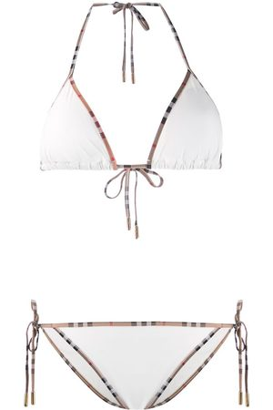 Burberry Vintage Check-trim bikini