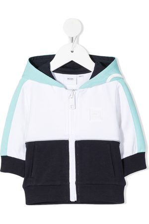 BOSS Kidswear Colour-block zipped hoodie