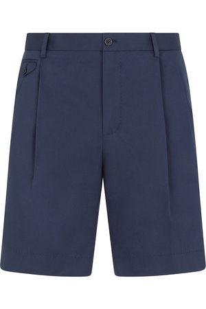 Dolce & Gabbana Embroidered logo pleated Bermuda shorts