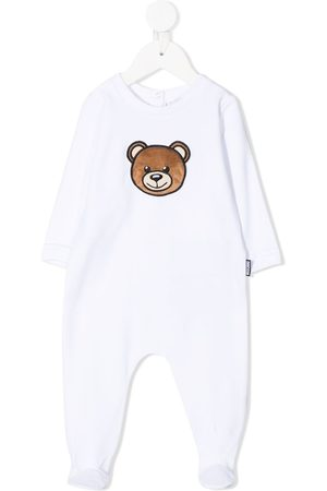Moschino Kids Teddy bear-patch cotton-blend pajamas